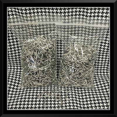 """100 Stainless Steel NO RUST Hog Rings 3//4/"""" 14g Seat Upholstery fences cages USA"""
