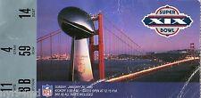 1984 1985 SUPERBOWL XIX SAN FRANCISCO 49ERS MIAMI DOLPHINS TICKET STUB MARINO
