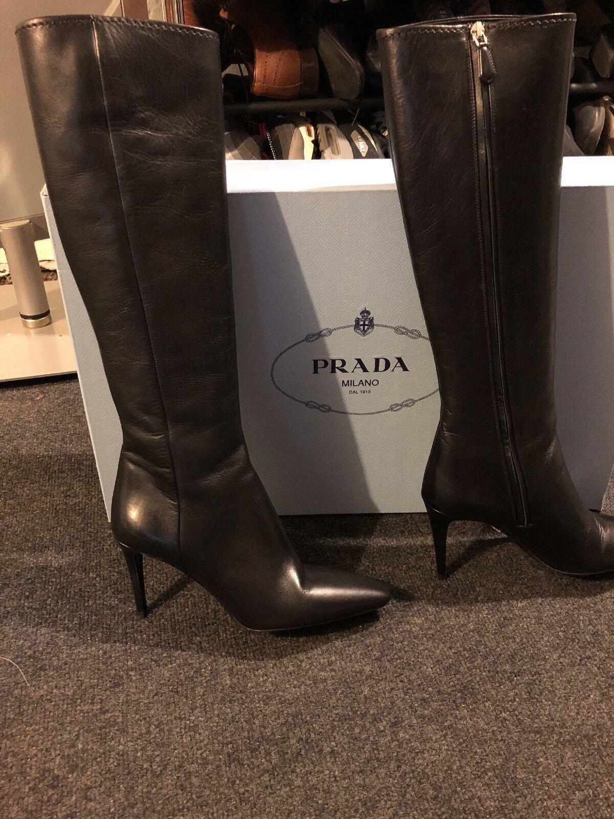 Prada Calzature Donna Knee High Boots