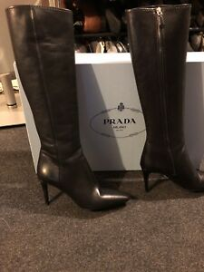 91afa8e48a Image is loading Prada-Calzature-Donna-Knee-High-Boots