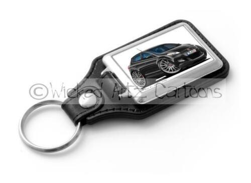 WickedKarz Cartoon Car Fiat Bravo Multijet in Black Stylish Key Ring