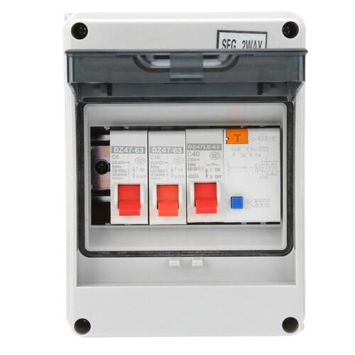 2//3//4 Way Garage Caravan Consumer Unit 63A//40A 30mA RCD 6A 16A 20A 32A