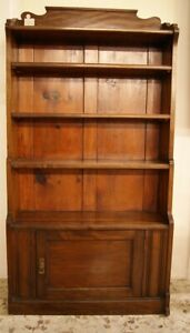 Etagere libreria inglese vittoriana in mogano - Inghilterra - 1800