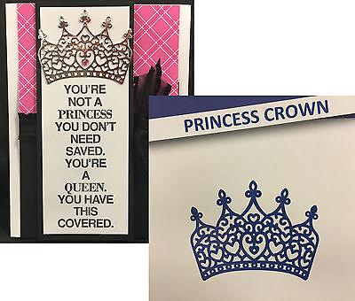 Princess Crown metal die D306 Tattered Lace Cutting Dies tiara queen