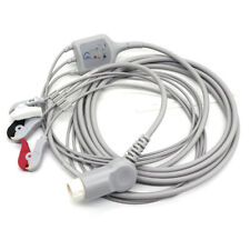 3leads Clip Type Ecg Cable Compatible Philips Hp Codemaster 100