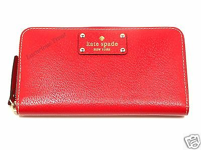 New! Kate Spade Garnet Neda Wellesley Zip Around Clutch Wallet WLRU1153