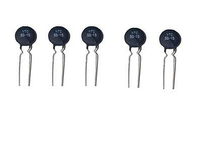 5pcs NTC 8D-20 Thermistor Resistor In Rush Current Limiter 8 Ohms 20mm