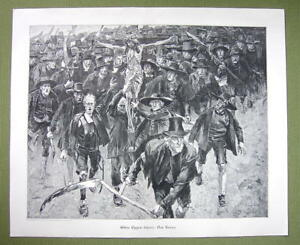 PEASANT-REVOLT-Scythes-Crucified-Christ-Cross-VICTORIAN-Era-Print-15-034-x-18-034