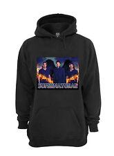 L@@K! Supernatural Hoodie - Sam Dean Castiel  - Black - Size XL