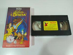 LA-BELLA-Y-LA-BESTIA-VHS-LOS-CLASICOS-DE-WALT-DISNEY-VHS-Cinta-Espanol