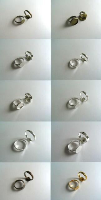 Ringrohling 1-5-10 Stk. Cabochons Metall Ring verstellbar verschiedene Varianten