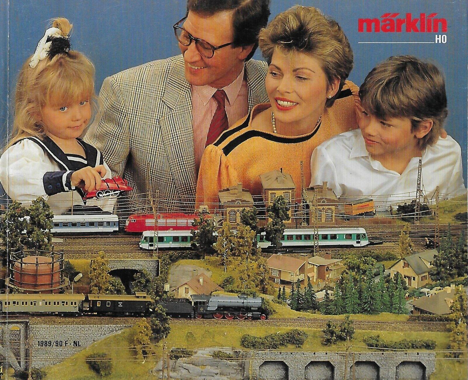 MARKLIN CATALOGUE   1989-90 - MODELISME FERROVIAIRE HO + COUPON - EN FRANCAIS