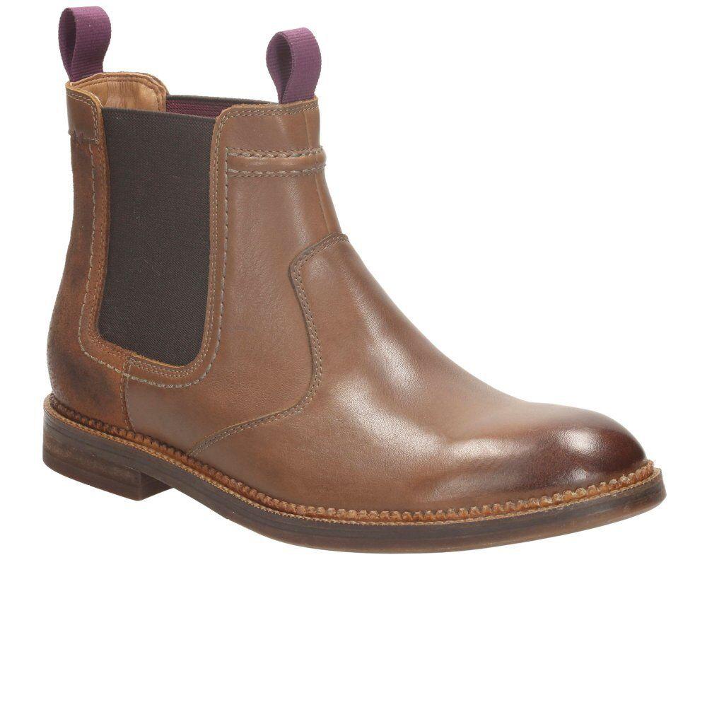 Clarks Herren Schwarz Bushwick Hi Elegant Schwarz Herren Chelsea Stiefel UK 8,9, 10,11 G d5740c
