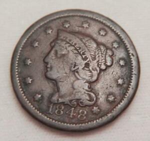 1848 Braided Hair Large Cent Fine