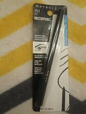 maybelline waterproof unstoppable automatic pencil eyeliner 701 onyx