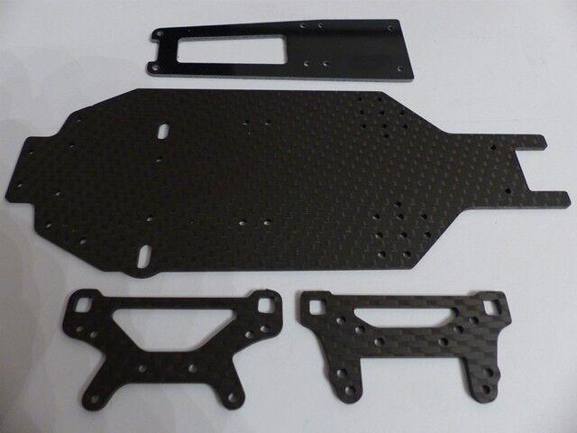 HD Carbon Chasis,Cubierta Superior,Puente Del Amortiguador para 236mm Tamiya