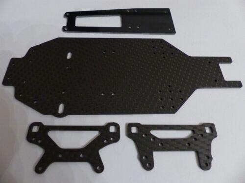 Dämpferbrücken für 236mm Tamiya TA-02SW Chassis 934 HD Carbon Chassis Topdeck