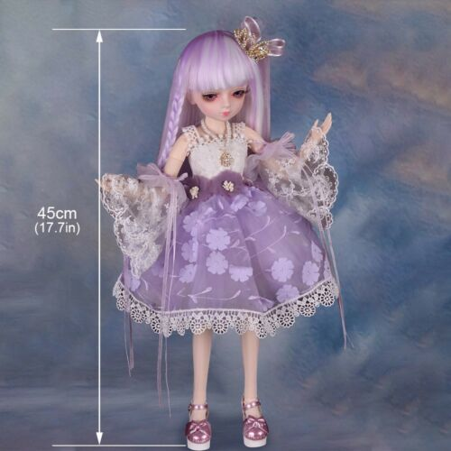 45cm BJD Doll 1//3 Ball Jointed Doll Girl Body Handmade Pretty Full Set Gifts Toy