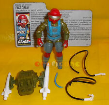 FAST DRAW (v1) 1987 Series 6 - With Card - G.I. Joe GI Hasbro ○○○○ COMPLETO