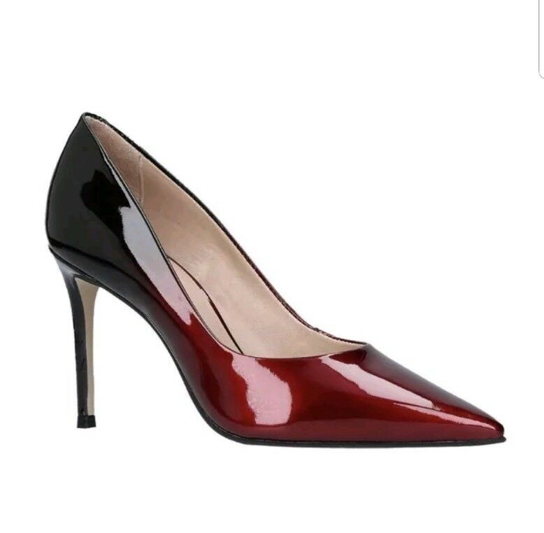 Carvela damen Alison Pointed Toe Stiletto Court schuhe Wine Patent Eu 35