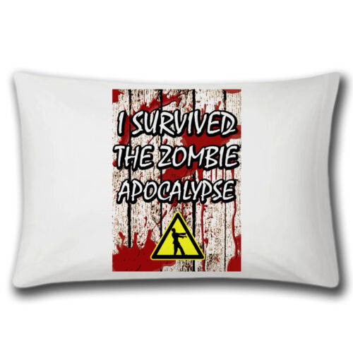 I Survived The Zombie Apocalypse PillowPillowcaseBeddingFunnyGifts