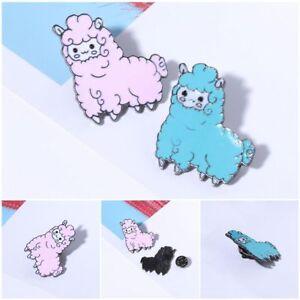 Kawaii-Schafe-Alpaka-Brosche-Cartoon-Tier-Jacke-Kragen-Revers-Abzeichen-Pins