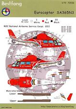 Bestfong Decals 1/72 EUROCOPTER SA-365N3 Republic of China Service Corps
