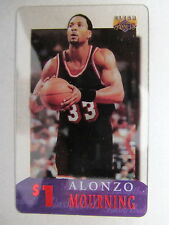 1$ Telefonkarte Phone-Card USA Basketball League Spieler Player ALONZO MOURNING
