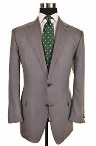 RECENT-Canali-Brown-Label-Gray-Silver-Woven-Check-Sport-Coat-Jacket-EU54-US-44-R