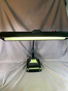 Vintage 1950s ART SPECIALTY Co. CHICAGO Goose Neck DESK LAMP Drafting Black e335