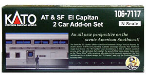 KATO-1067117-N-Scale-Santa-Fe-034-El-Capitan-034-2-Car-Set-106-7117-NEW