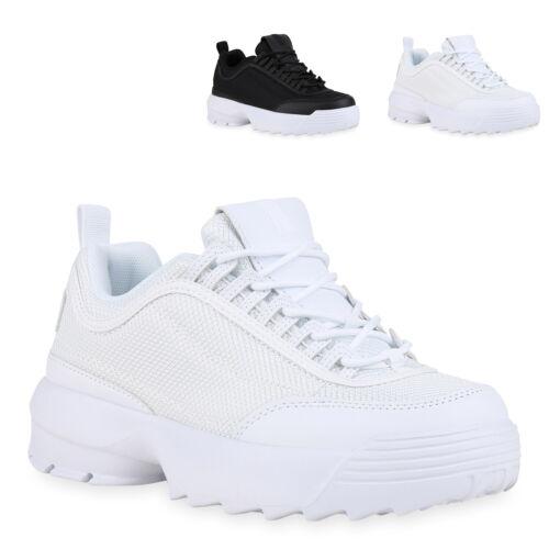 Damen Plateau Sneaker Turnschuhe Schnürer Chunky Plateauschuhe 830599 Trendy Neu
