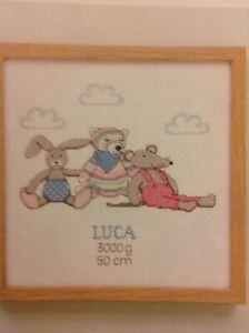 D-RICO-Designs-Nursery-Animals-New-Baby-Birth-Sampler-Cross-Stitch-Chart
