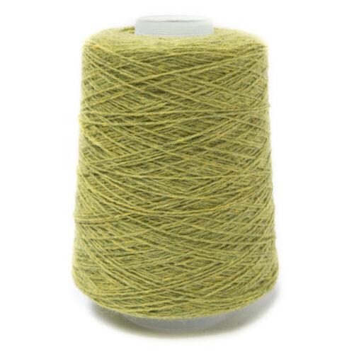 200G LIME GREEN MIX 2//11NM LAMBSWOOL YARN CALYPSO
