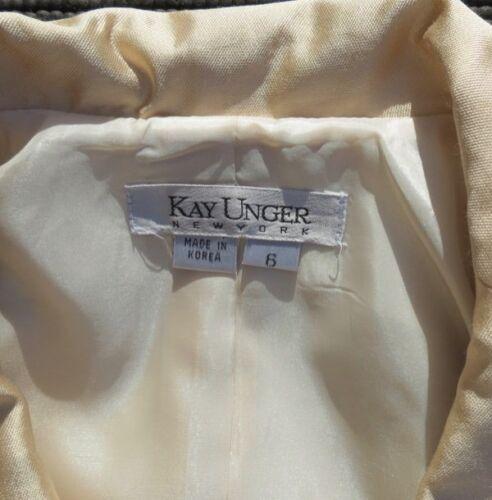 Silk Unger Rich con Rayon Cream Sz Cotton Kay Mob Giacca visone corta 6 Collare Top 5tdnqWU