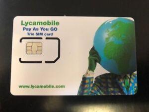 Etats Unis Usa Carte Sim Lyca Mobile Usa 3 En 1 Sim Plans De Depart De 19 Uk Gratuit Appels Ebay