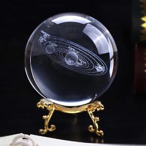 100mm-3D-Solar-System-Crystal-Universe-Ball-Glass-Miniature-Laser-Home-Decor
