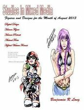 Figures and Designs for the Month of August 2013 : Studies in Mixed Media by...