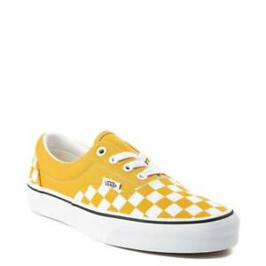 Details about Vans Era Chex Skate Shoe Yolk Yellow Checkerboard Women's NEW