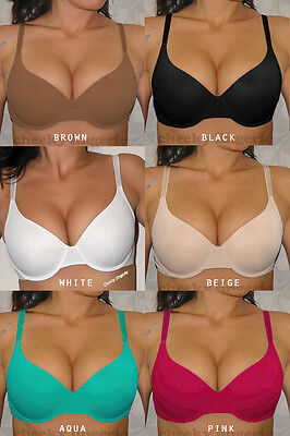 VERY SEXY SEAMLESS BODY STYLE T-shirt BRA 7 color 32 34 36 38 40 42 44 B C D DD