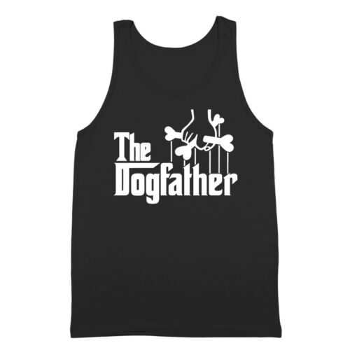 The Dogfather Funny Dog Dad Humor Gift Black Tank Top