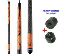Viper 50-9001 Realtree Blaze Orange Pool Cue Stick 18-21 oz & Joint Protectors