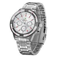 Waterproof Stainless Steel Unisex Men Lady Women Sports Japan Quartz Wrist Watch
