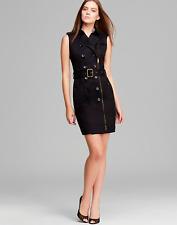 BURBERRY BRIT Women SLEEVELESS BELT CLASSIC TRENCH DRESS, BLACK, SZ 2 OR 4 - NWT