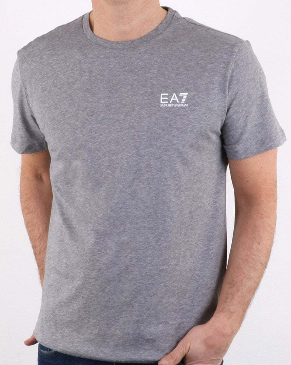 EMPORIO ARMANI EA7 Core Tee in colore grigio-ID manica corta T Shirt Girocollo