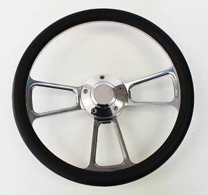 1985-1988-Ford-Ranger-Black-and-Billet-Steering-Wheel-14-034-Polished-Spokes