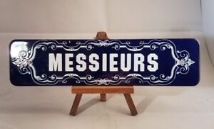 Collectible-Porcelain-1976-Messieurs-Sign-By-Lowell-Sigmund-10-034-x2-5-034