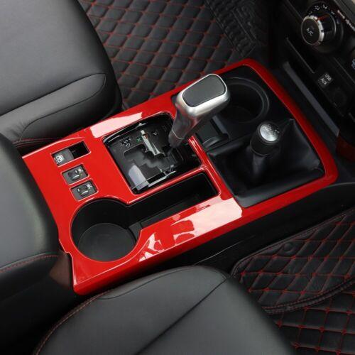 For Toyota 4Runner 2010-19 Red Interior Center Gear Shift Panel Cover Trim Decor