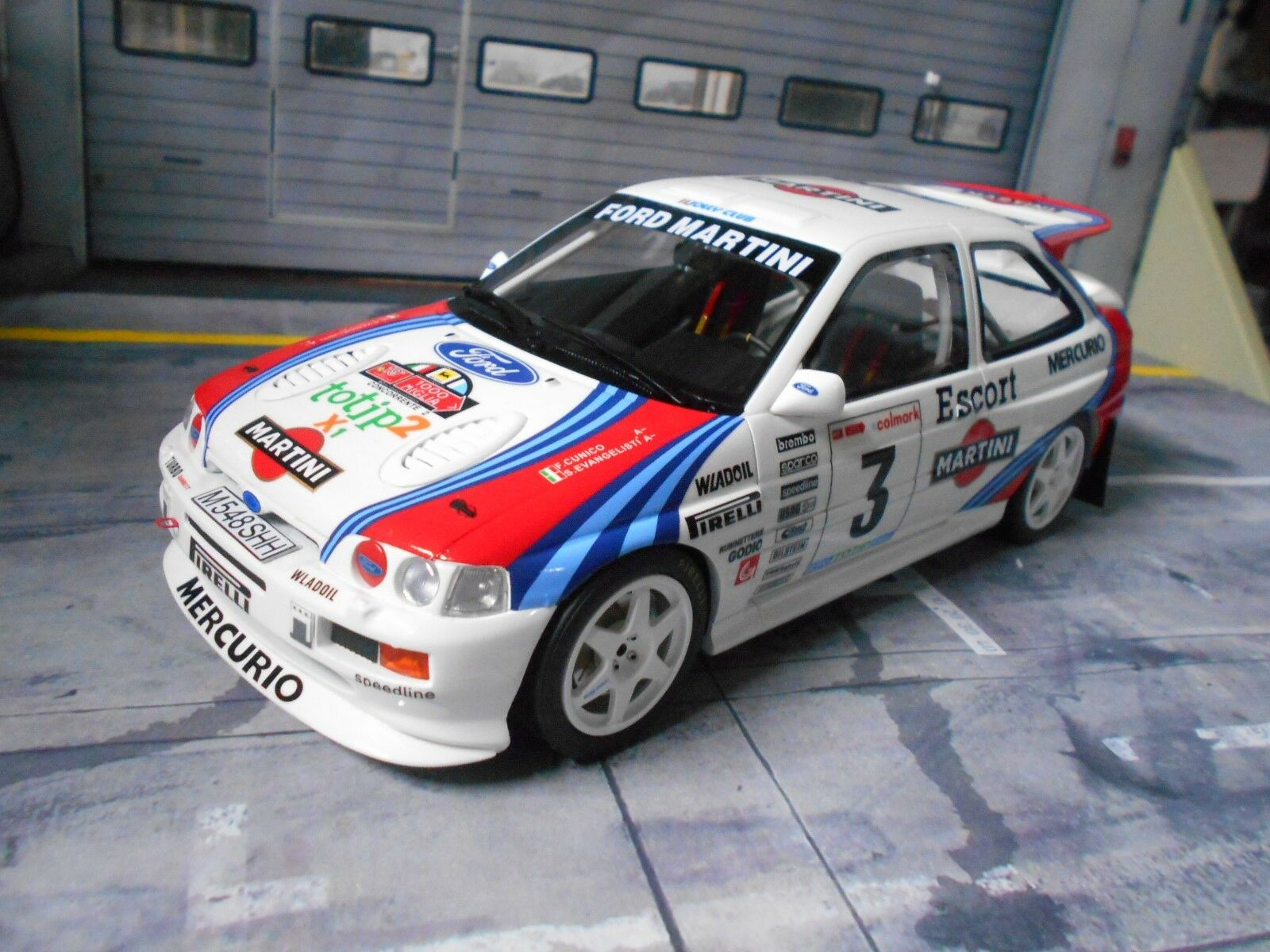 Ford Escort RS Cosworth Rallye  3 Cunico Martini 1995 1000 MIG Racing Otto 1 18
