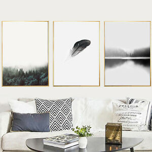 Modern-Nordic-Minimalist-Forest-Canvas-Art-Poster-Print-Wall-Picture-Home-Decor
